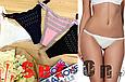 Трусики женские La Vivas 20839 танга со стразами. 2 шт в наборе. Цвет Молочный + Черный, размер L, фото 2