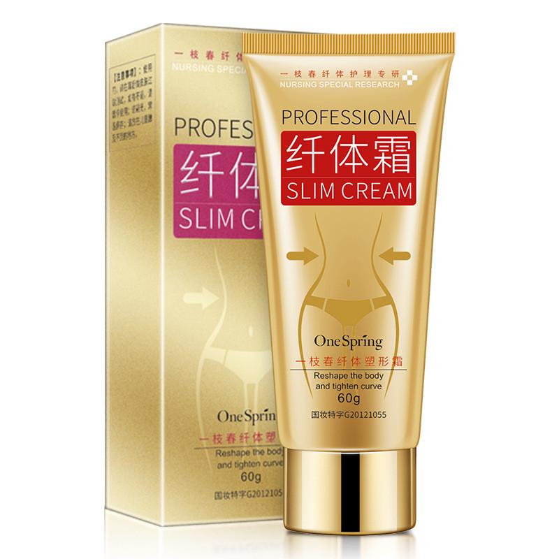 Антицеллюлитный крем для тела и для похудения с кофеином One Spring Prfessional Slim Shaping Cream, 60г
