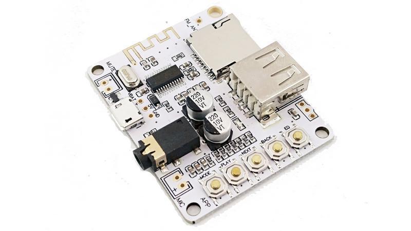 Плата Bluetooth MP3 беспроводной аудио приемник 3.7V Micro USB (12303) 3