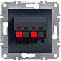 Аудиорозетка цвет антрацит Asfora EPH5700171