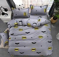 Комплект постельного белья семейный Бэтмен (серое) (ранфорс)