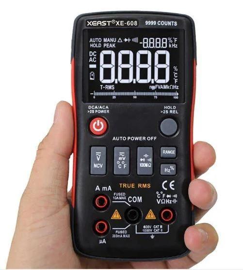 Мультиметр цифровий True RMS XE-608 9999 відліків Black