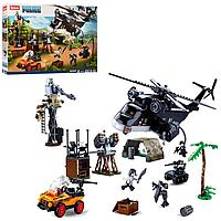 Блочный детский пластиковый конструктор Sluban M38-B0775 Полицейский отряд джунгли (830 деталей)