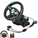 Гоночный руль Vibration Steering Wheel ps3 ps2 pc USB мультимедийный 3 в 1, фото 2