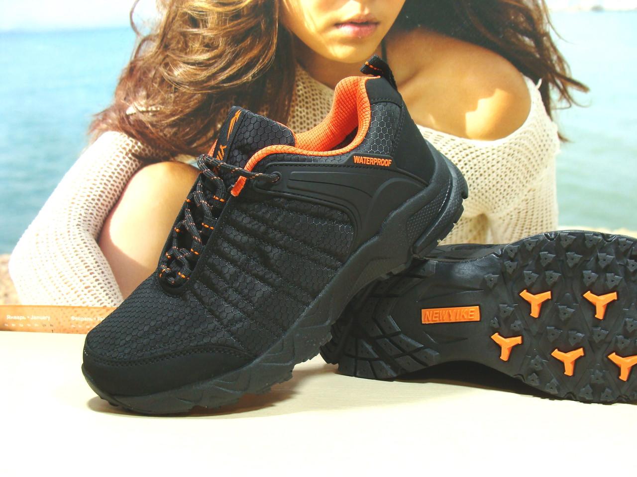 Мужские термо - кроссовки Yike waterproof черно-оранжевые 42 р.