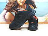 Мужские термо - кроссовки Yike waterproof черно-оранжевые 42 р., фото 3