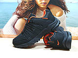 Мужские термо - кроссовки Yike waterproof черно-оранжевые 42 р., фото 5