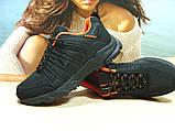 Мужские термо - кроссовки Yike waterproof черно-оранжевые 44 р., фото 2
