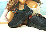 Мужские термо - кроссовки Yike waterproof черно-оранжевые 44 р., фото 4