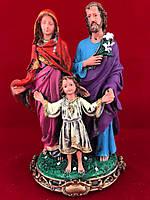 Фигурка гипсовая статуэтка Семья Божья, цветная, 22 см