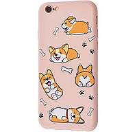Чехол-накладка TPU WAVE Fancy Case для IPhone 6 / 6s Pink Sand (Corgi)