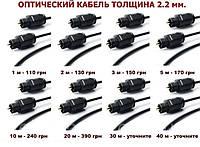 Кабель оптический 2.2 мм. 1,2,3,5,10,15,20,30,40м TOSLINK optic оптика