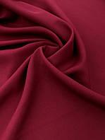 Габардин цвет вишня (ш. 150 см), 100% полиэстер для украшения залов ,жакетов, костюмов, брюк