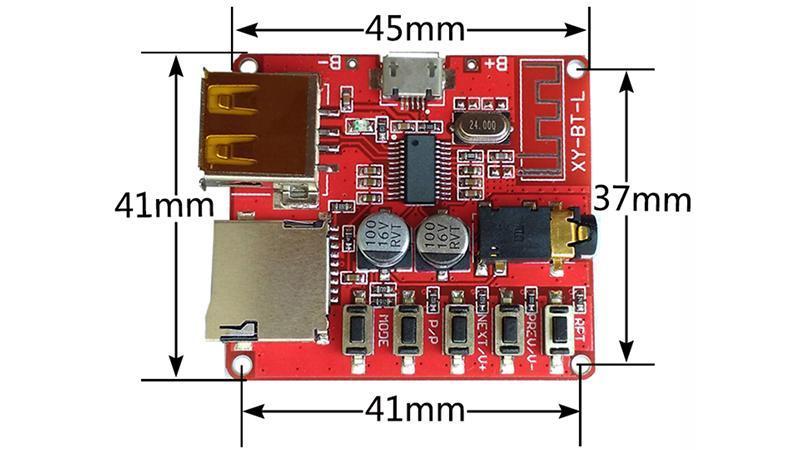 Модуль декодер MP3 Bluetooth 4.1 аудио приемник с USB (15871) 3