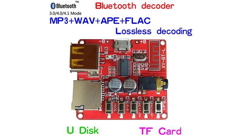 Модуль декодер MP3 Bluetooth 4.1 аудио приемник с USB (15871) 5