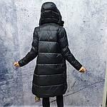 Жіночий пуховик Evacana E20-W014M. Жіноча довга куртка з хутром Лами., фото 6
