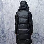 Жіночий пуховик Evacana E20-W014M. Жіноча довга куртка з хутром Лами., фото 5