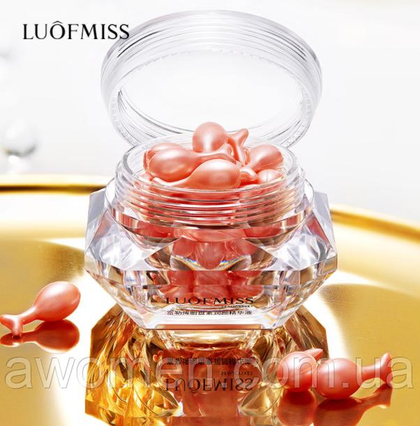 Сыворотка для лица Luofmiss Fullerene Placente Gold 30 капсул