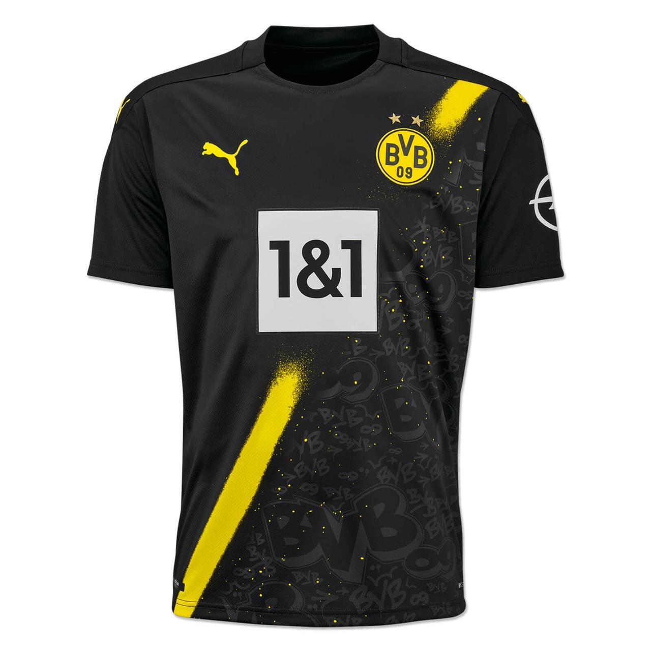 Футбольная форма Боруссия Дортмунд (Borussia Dortmund), выездная сезон 20/21