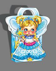 Упаковка святкова новорічна з картону Ангел, 200г, фото 3