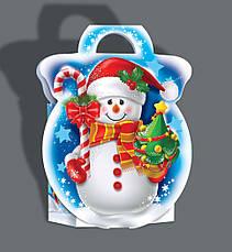 Упаковка новогодняя из картона Золотая снежинка, до 250г, от 1 ящика, фото 2