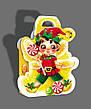 Упаковка святкова новорічна з картону Ангел, 200г, фото 2