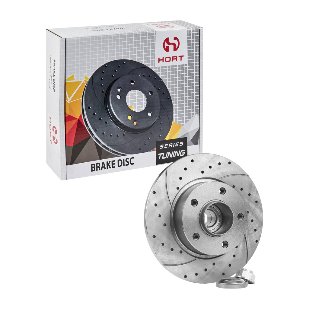 Диск гальмівний задній правий Tuning (+підш+кільцеABS) HORT Renault Trafic II-4320600QAB, OPEL VIVARO