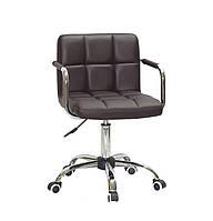 Кресло для мастера, офиса Arno ARM ЭКО, темно-коричневый