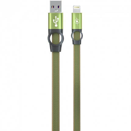 Зарядный кабель Gelius Pro Flexible 2 GP-UC07i iPhone X Green, фото 2