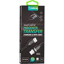 USB кабель Gelius Pro Magenta Transfer GP-MC-03i iPhone X Lighting Black, фото 3