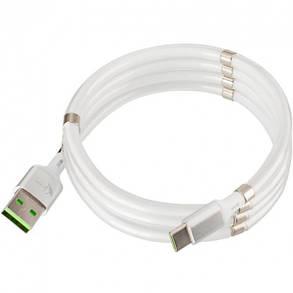 USB кабель с магнитами Krazi Super KZ-UC001c Type-C White, фото 2