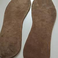 Стельки кожаные  из натуральной кожи (ручная работа) 39-42рр 3-4мм, фото 1