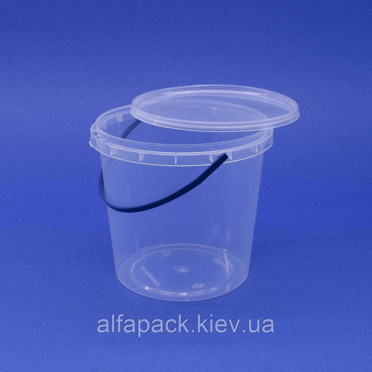 Ведро пластиковое 1 л, 200 шт.
