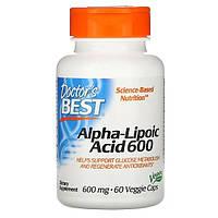 Альфа-липоевая кислота, 600 мг, 60 капсул, Doctor's Best