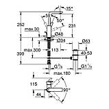 Смеситель для раковины Grohe Lineare 23296001 L-Size, фото 2