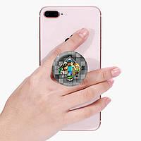 Попсокет (Popsockets) держатель для смартфона Майнкрафт (Minecraft) (8754-1175)