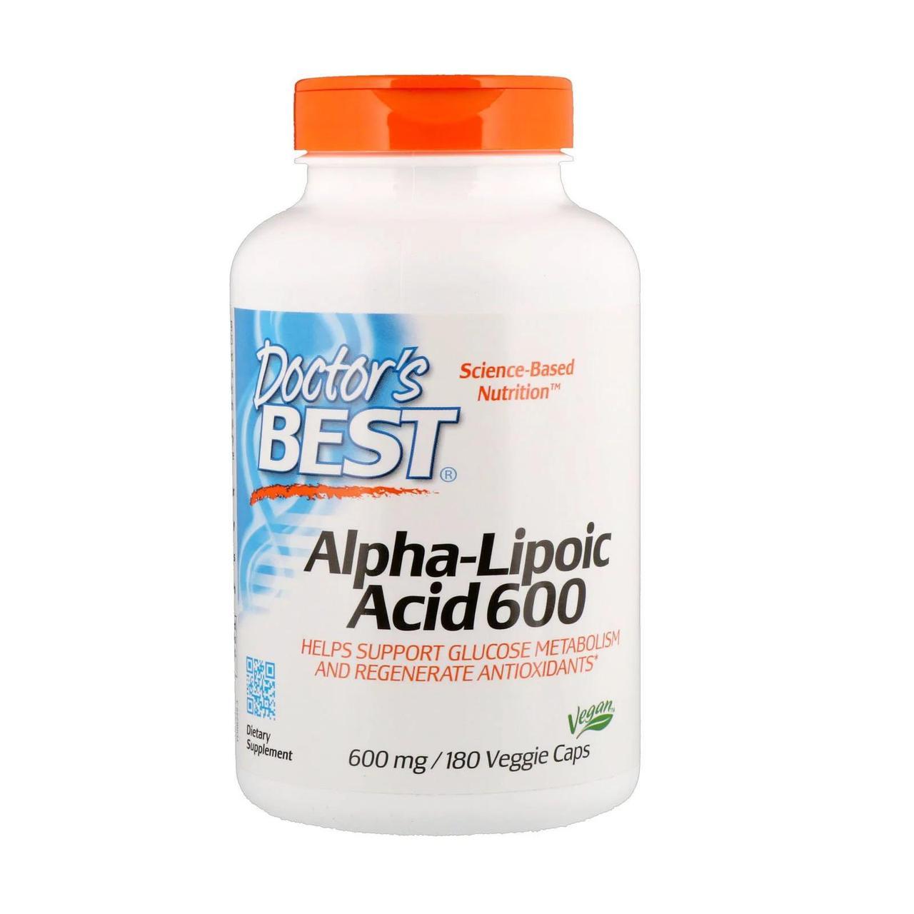 Альфа-липоевая кислота, 600 мг, 180 капсул, Doctor's Best