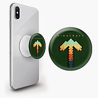 Попсокет (Popsockets) держатель для смартфона Майнкрафт (Minecraft) (8754-1169)