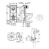Комплект Grohe инсталляция Rapid SL 38721001 + набор для гигиенического душа со смесителем BauClassic 2904800S, фото 2
