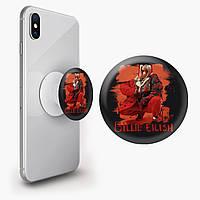Попсокет (Popsockets) держатель для смартфона Билли Айлиш (Billie Eilish) (8754-1214)