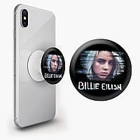Попсокет (Popsockets) держатель для смартфона Билли Айлиш (Billie Eilish) (8754-1217)