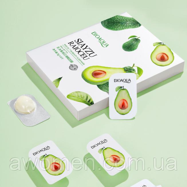 Ночная маска для лица Bioaqua Avocado Hydrating с экстрактом авокадо (упаковка 8 штук)