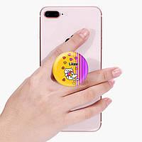 Попсокет (Popsockets) держатель для смартфона Лайк Котик (Likee Cat) (8754-1039)