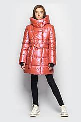 Модная зимняя подростковая куртка для девочек Кэти тм Cvetkov размеры 128- 140