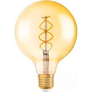 Лампа светодиодная филаментная Osram FIL Vintage Spiral Globe Gold G120 5 Вт E27 2000 К 220 В желтая