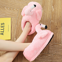 Тапочки-игрушки Фламинго закрытые розовые размер 36-40 GS690