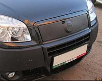 """Зимова накладка Fiat Doblo 2006-2011 на решітку радіатора матова """"FLY"""""""