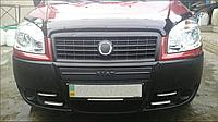 """Зимова накладка Fiat Doblo 2006-2011 Бампер Середня глянцева """"FLY"""""""