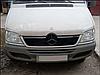 "Зимняя накладка Mercedes Sprinter CDI 2000-2006 на решетку радиатора Увеличенная матовая ""FLY"""