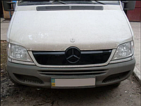 "Зимняя накладка Mercedes Sprinter CDI 2000-2006 на решетку радиатора Увеличенная матовая ""FLY"", фото 1"